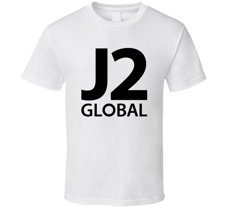 J2 Global Inc Nasdaq Company Logo Employee Fan T Shirt