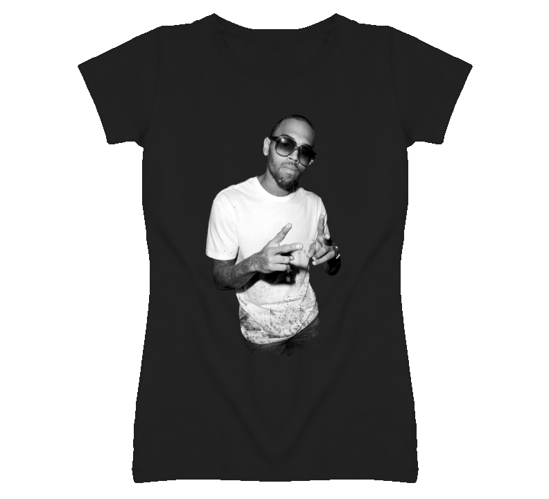 Chris Brown Black & White T Shirt