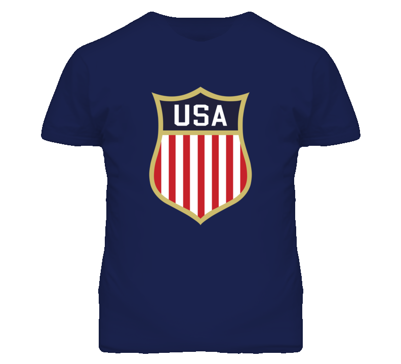 Team USA Olympic Hockey Logo Navy T Shirt