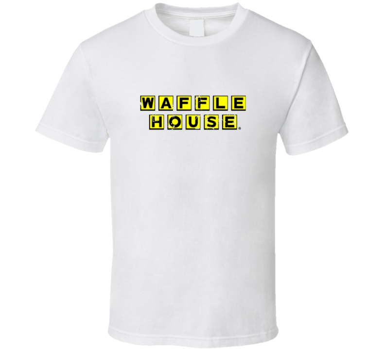 Waffle House Fast Food Restaurant Distressed Look T Shirt