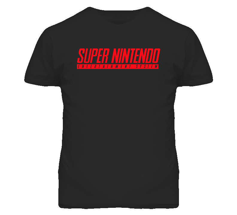 Super Nintendo Entertainment System SNES Logo T Shirt