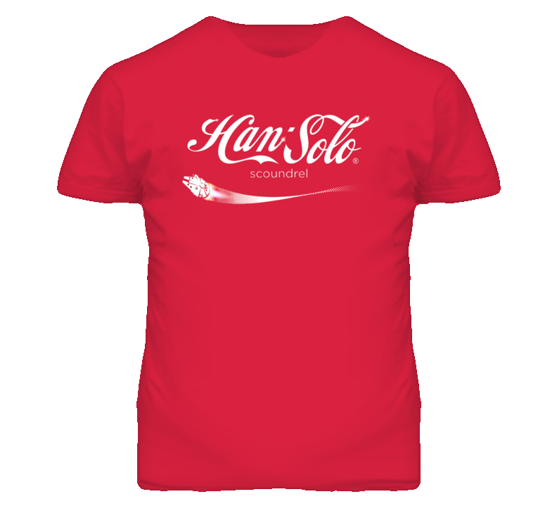 Han Solo Coca-Cola Logo Style Star Wars T Shirt
