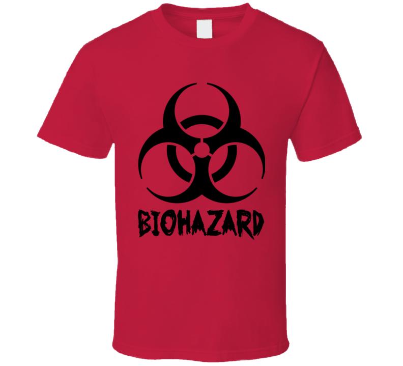 Red Biohazard T Shirt