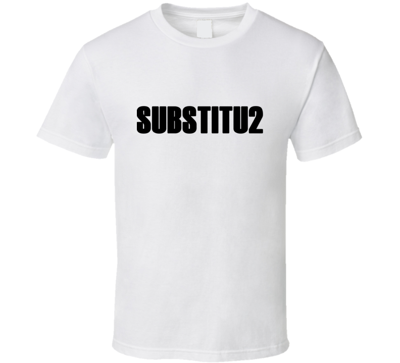 SUBSTITU2 - Chris Martin/U2 T Shirt