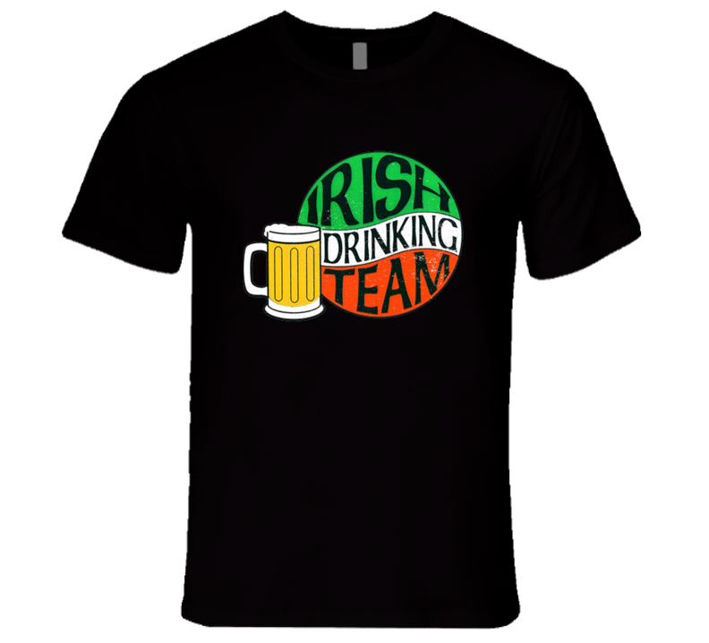 St. Patrick's Day - Irish Drinking Team - Black T-Shirt