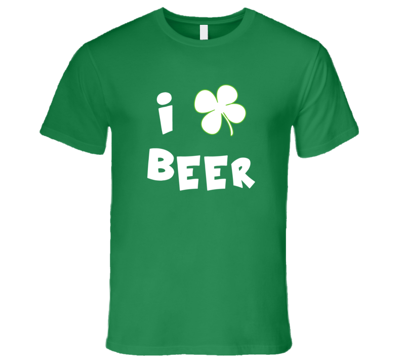 St. Patrick's Day - I Love Beer - T-Shirt