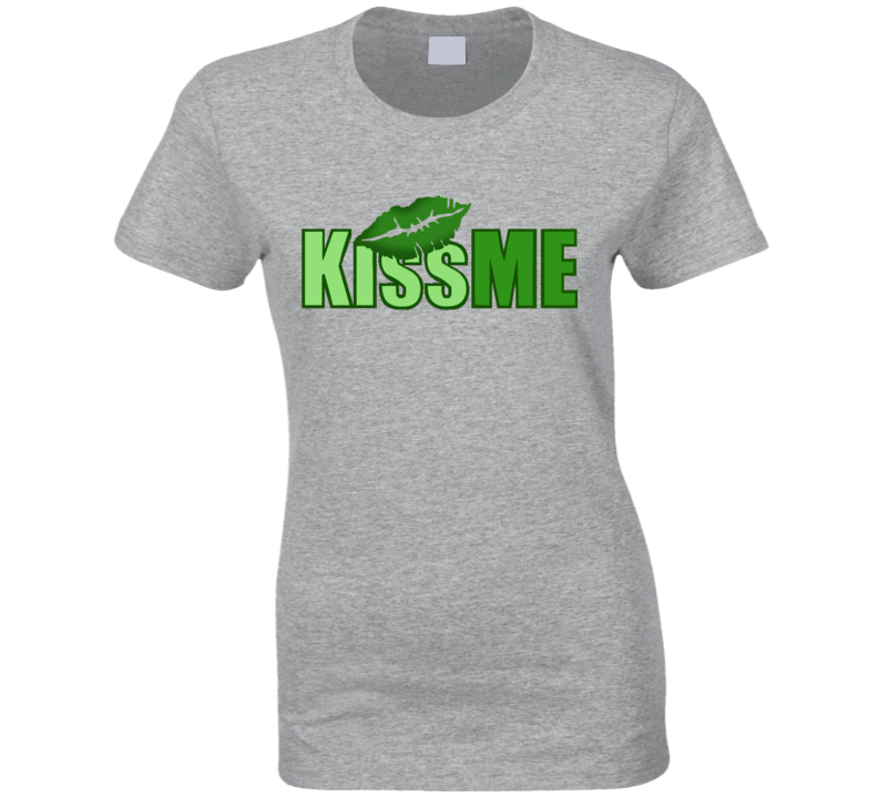 St. Patrick's Day - Kiss Me Lips - Grey T-Shirt