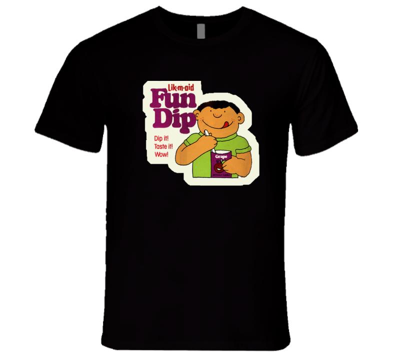 Lik-m-aid Fun Dip Retro DARK T Shirt