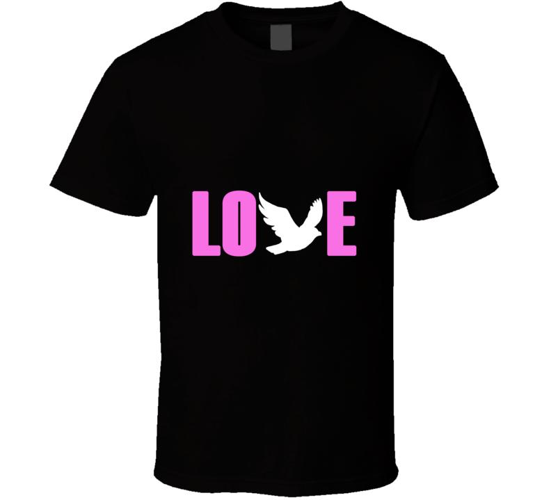 Chris Martin/Coldplay Love Dove Black T Shirt