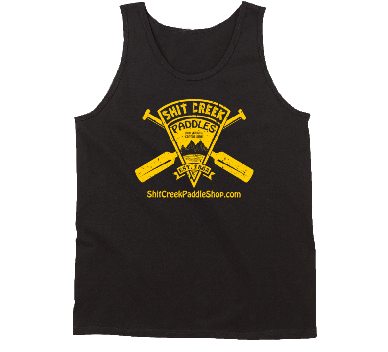 Distressed Shit Creek Paddles Tanktop