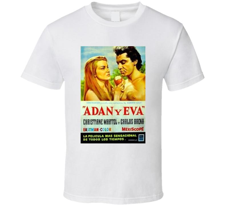 Kadup5se 1950s Classic Vintage Movie Poster T-shirt