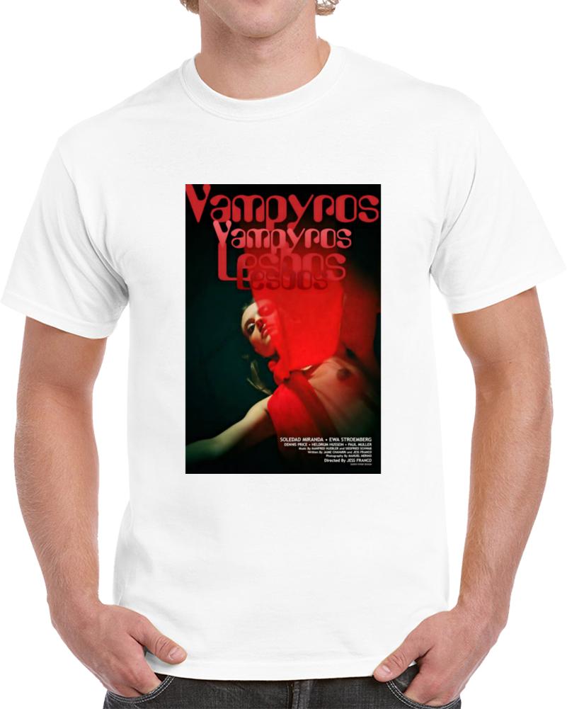 V463p9cm 1970s Classic Vintage Movie Poster T-shirt