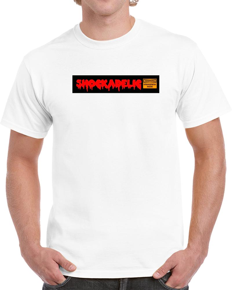 Shockadelic Cult + Trash Movie Poster T-shirts Logo + Warning Sign T Shirt