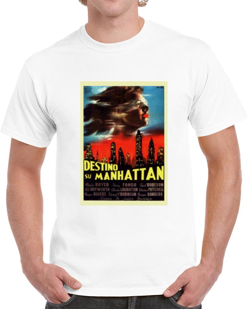 Vbq7zurq 1940s Classic Vintage Movie Poster T-shirt