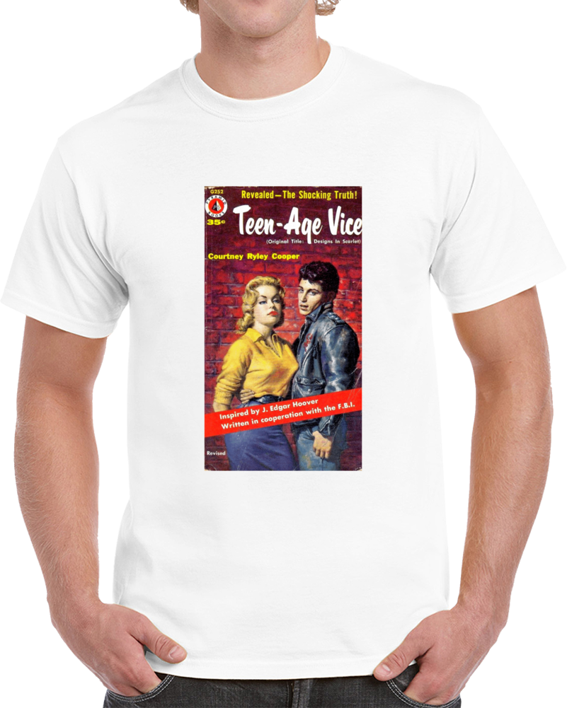 T4bg5ahw 1950s Classic Vintage Pulp Book Cover T-shirt