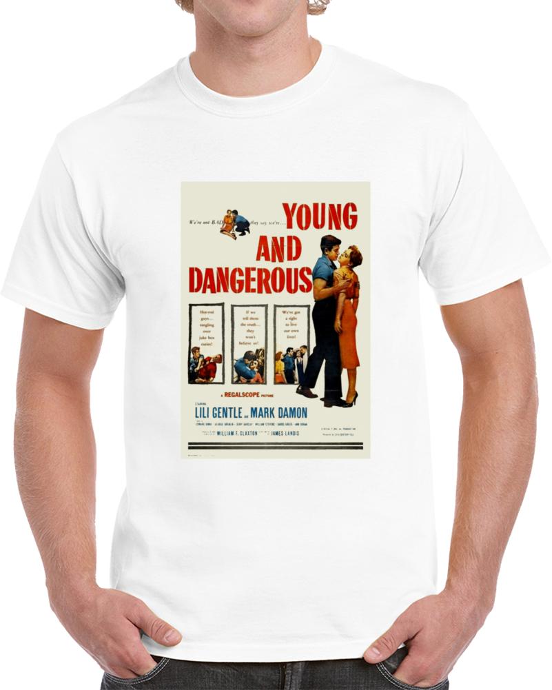 Dltzpt37 1950s Classic Vintage Movie Poster T-shirt