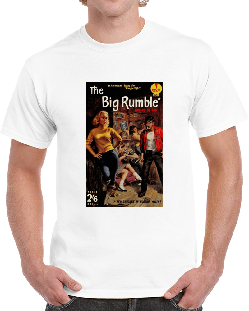 5a9x85f8 1950s Classic Vintage Pulp Book Cover T-shirt