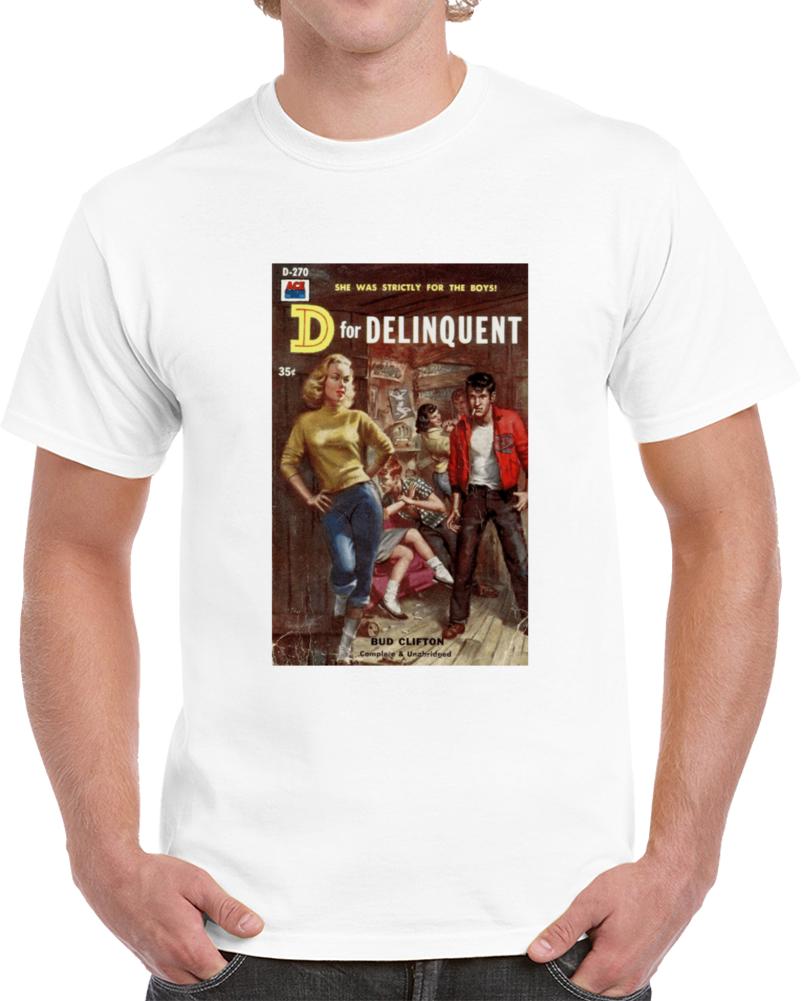 5fr8v6cz 1950s Classic Vintage Pulp Book Cover T-shirt