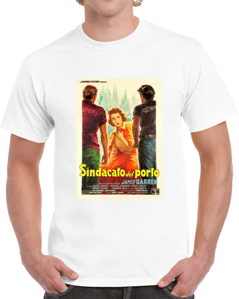 Qb6ejcaa 1950s Classic Vintage Movie Poster T-shirt