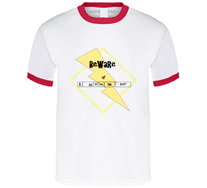 Funny Beware of Computer Keys T-shirt