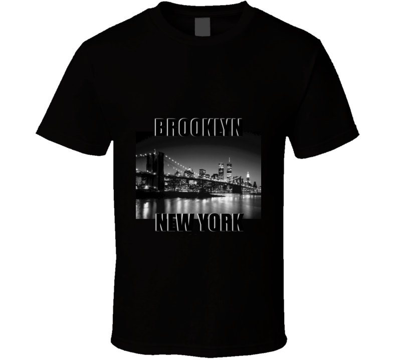 Brooklyn New York Big City Bridge View Skyline T Shirt