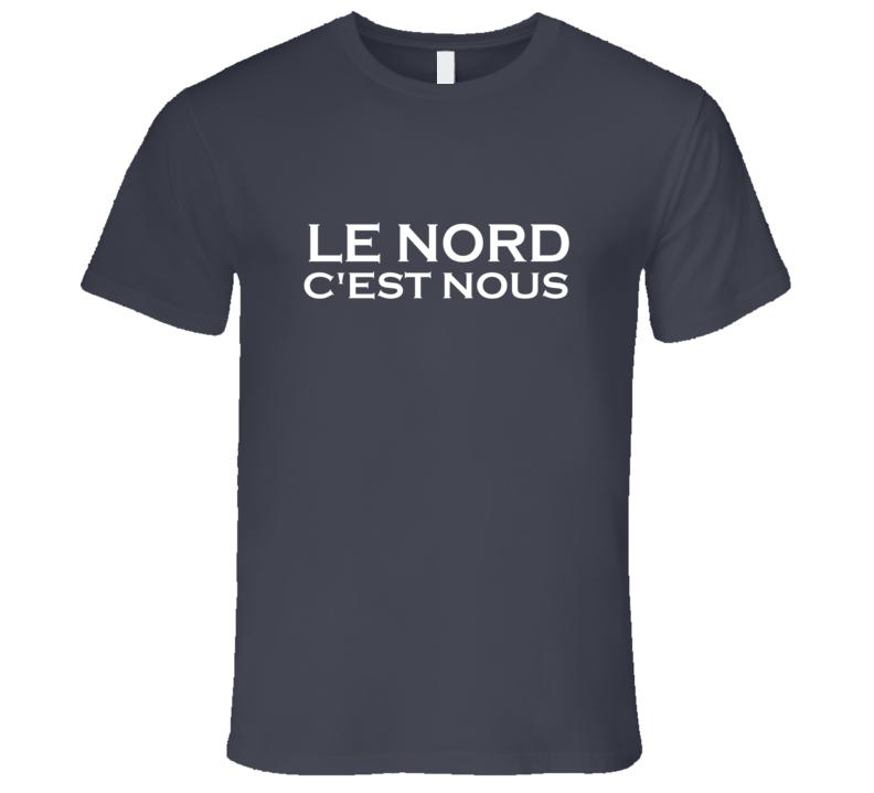 Le Nord C'est Nous Francais Anglais basketball ballon Panier Baseball T Shirt