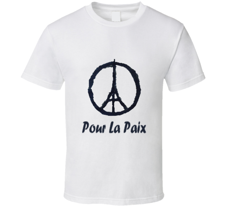 Paris Pour La Paix Chemise T Shirt