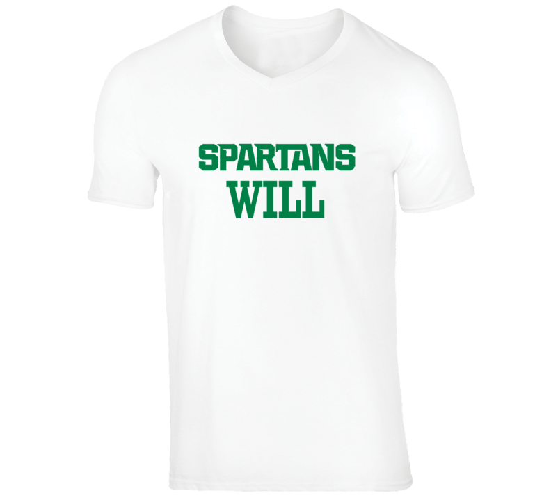 Michigan State Spartans Will #1 Ranking Polls American College Basketball Football Sports T Shirt