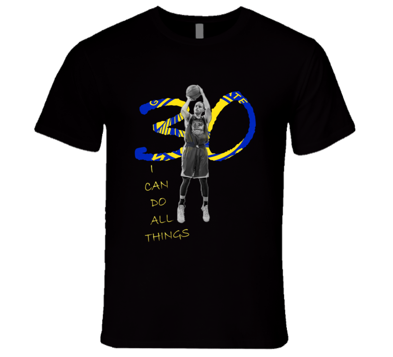 Stephen Curry I Can Do All Things 30 Oakland California Western Conference Men's Basketball T Shirt