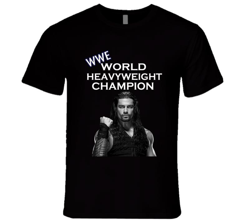 Roman Reigns Wrestling World Heavyweight Champion Match Raw Sports T Shirt