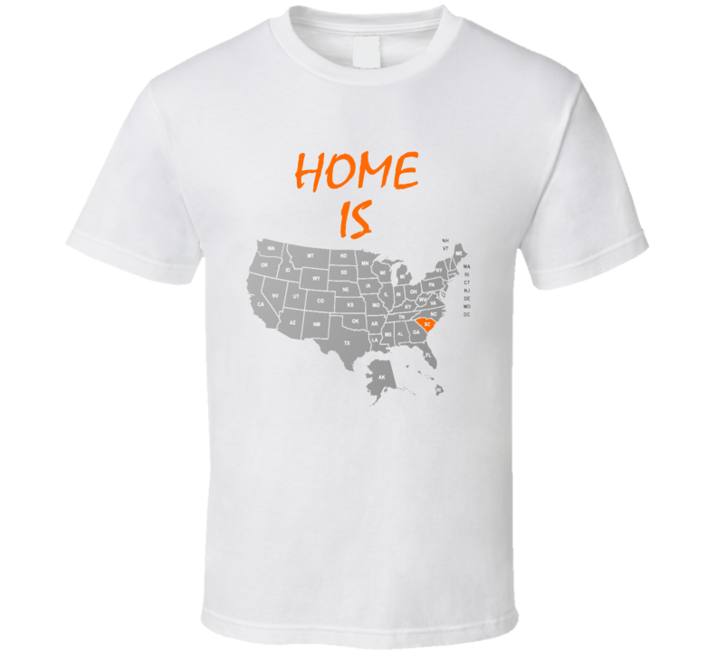 Home Is South Carolina Labeled US Map Clemson University College ...