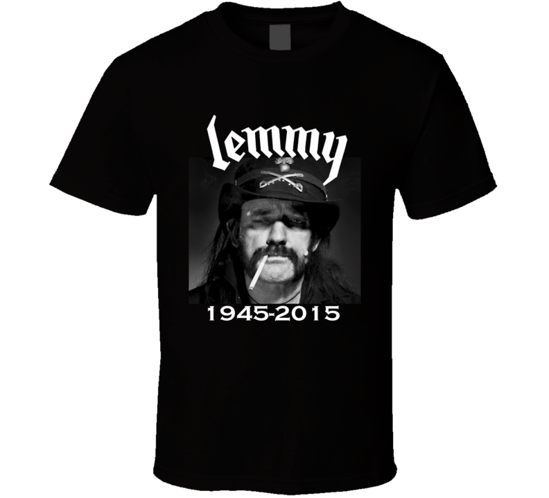 Lemmy Kilmister RIP 1945-2015 Tribute Motorhead Rock Band Music Memory Fan T Shirt