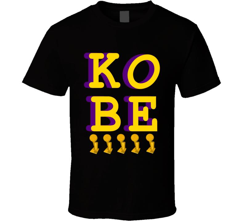 Kobe Bryant 5x Championship Winner Los Angeles Basketball MVP Retiring Fan T Shirt