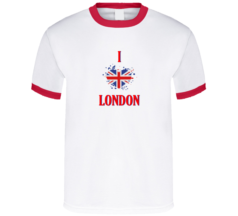 I Love London England Europe Heart Flag T Shirt