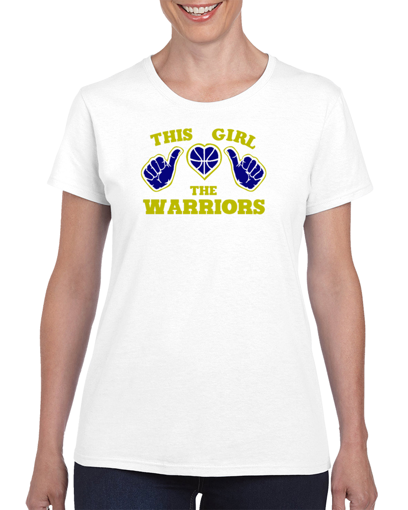 This Girl Loves The Warriors Men's California Basketball Fan Tshirt