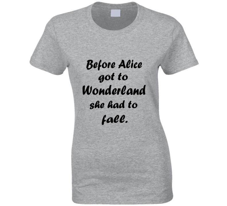 Before Alice Wonderland Fall Fan T Shirt