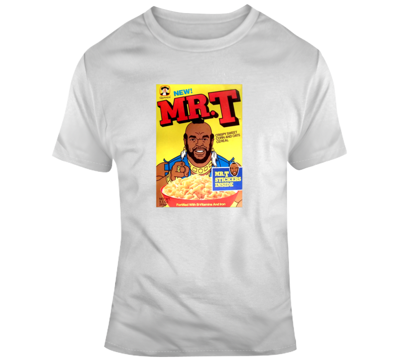 Mr. T Cereal Funny Breakfast Old School T Shirt