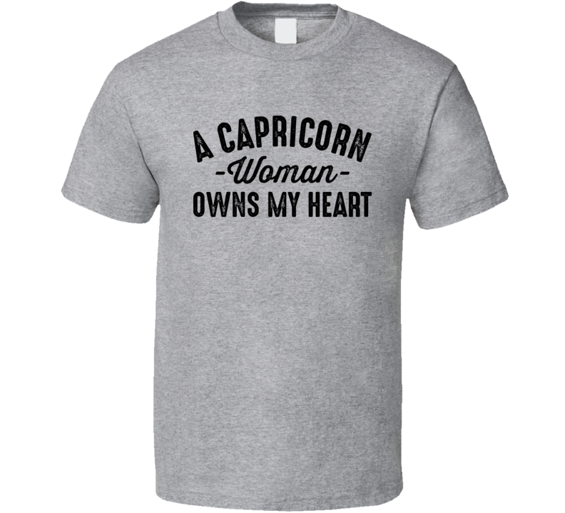 A Capricorn Woman Owns My Heart Horoscope Fan T Shirt