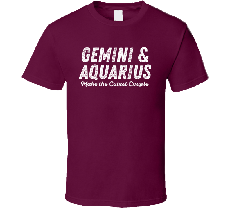 Gemini And Aquarius Make The Cutest Couple Horoscope Fan T Shirt