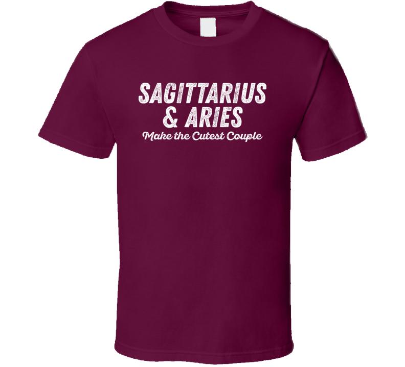 Sagittarius And Aries Make The Cutest Couple Horoscope Fan T Shirt