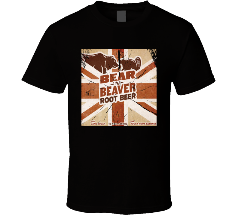 Bear Beaver Root Beer Retro Soda Pop Drink Logo Fan Gift T Shirt