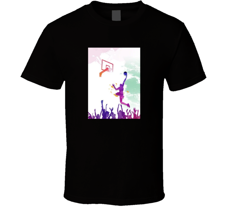 Basketball Fan Inspiration Art Cool Graphic T Shirt