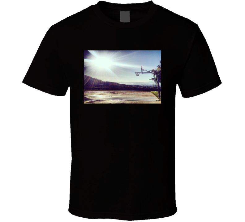 Sunny Basketball Court Inspiring Cool Gift T Shirt