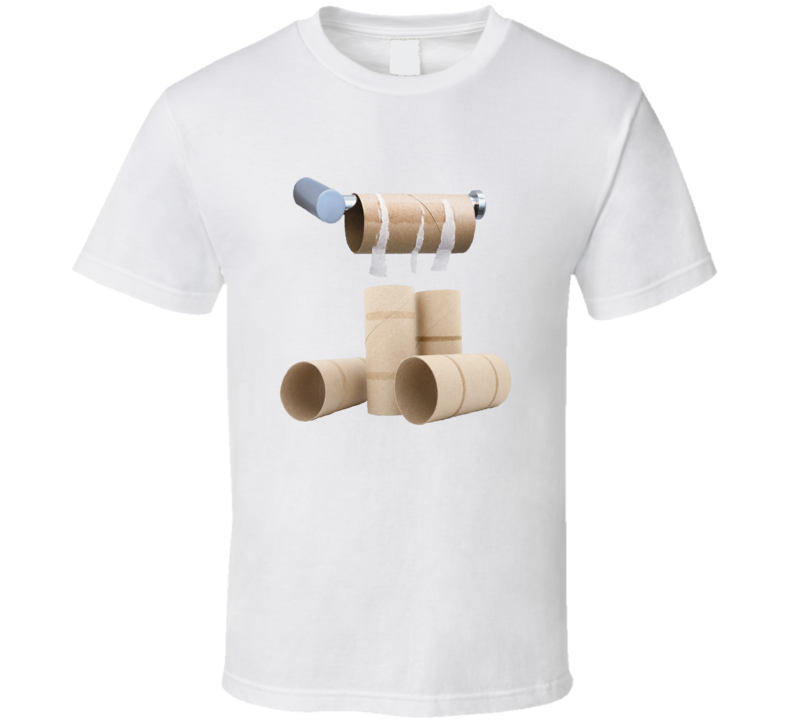 Empty Toilet Paper Roll Funny Essential Shortage Gift T Shirt