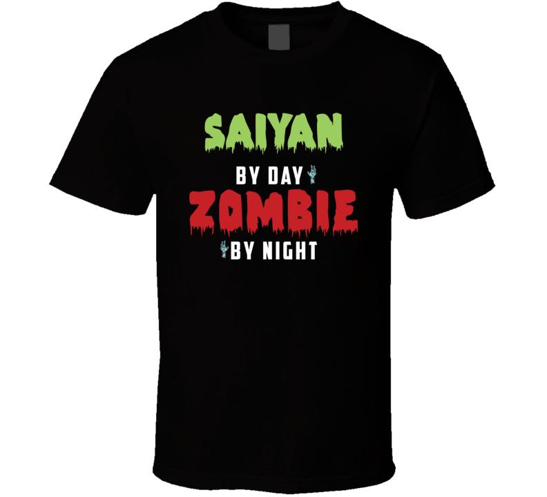 Saiyan By Day Zombie Night Fictional Character Anime T Shirt