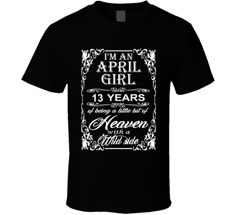 April Girl 13 Heaven and Wild Side Light T Shirt
