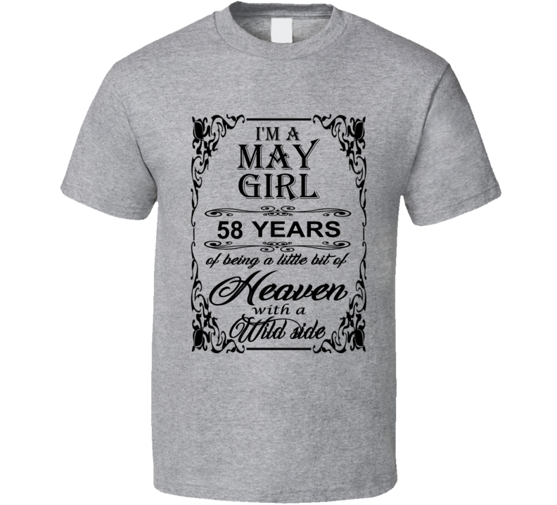 May Girl 58 Heaven and Wild Side T Shirt