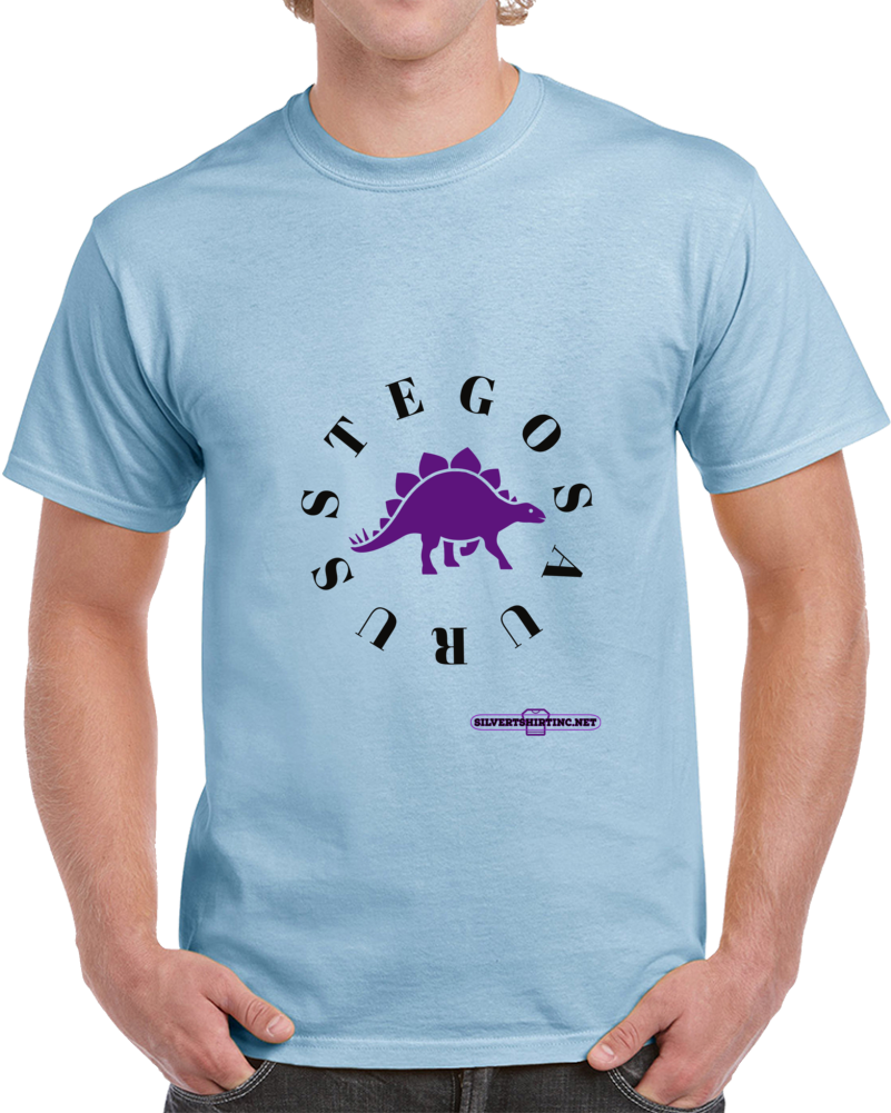 Stegosaurus Dinosaur I Show Off My Plates Fun Cartoon