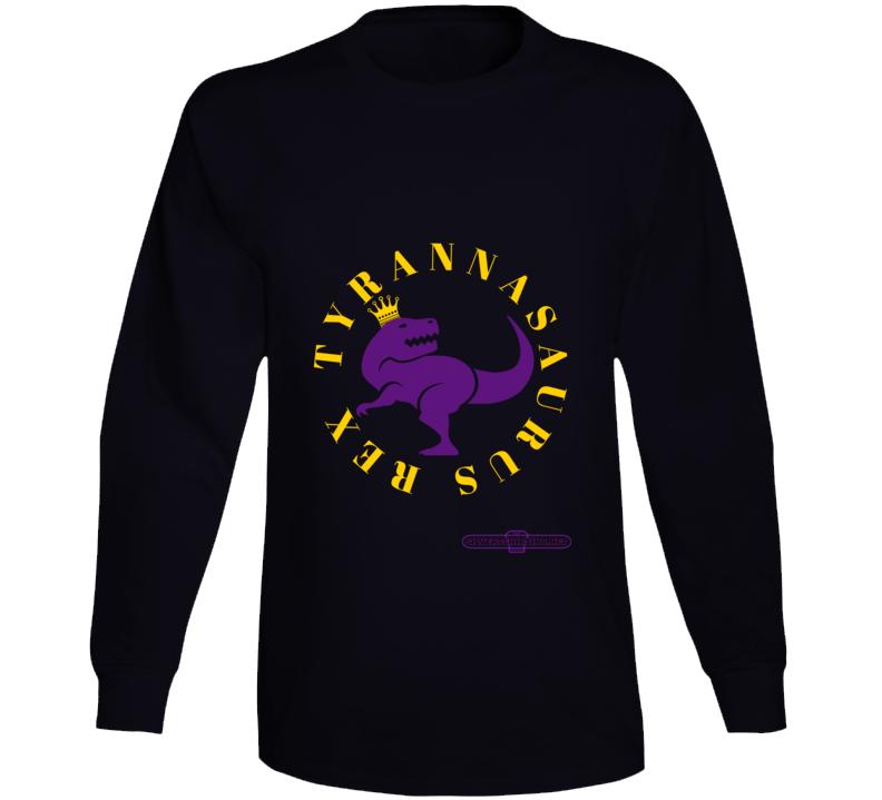 Tyrannasaurus Rex King Dinosaur Dignified On Black  T-Shirt