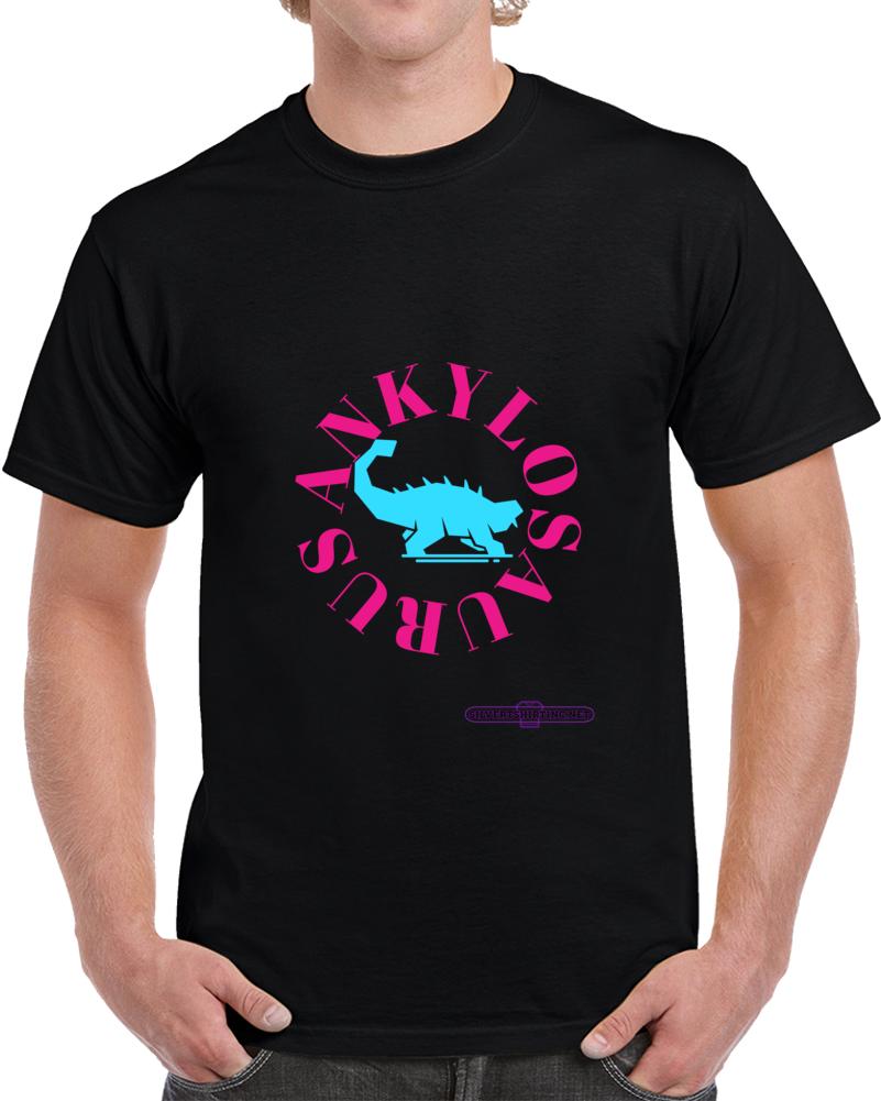Ankylosaurus Dinosaur In Teal My Skull Is Triangular T Shirt